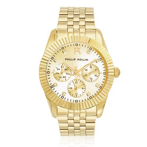 Relógio Feminino Phillip Kollin Bali All Gold Ref ZY28065G Dourado