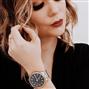 Relógio Feminino Phillip Kollin St. Maarten Glam Diamond Mixed Rose Black