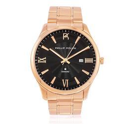 Relógio Feminino Phillip Kollin St. Maarten Glam Diamond Rose Black
