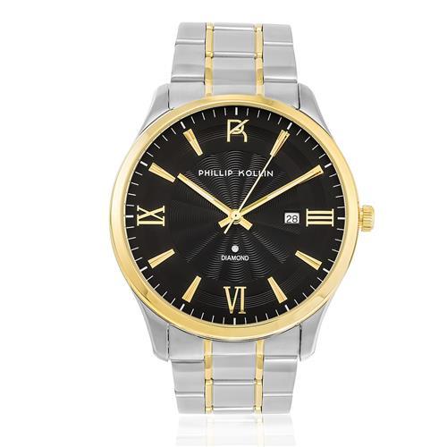 Relógio Feminino Phillip Kollin St. Maarten Glam Diamond Mixed Gold Black