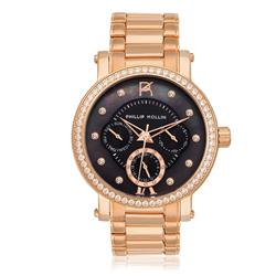 Relógio Feminino Phillip Kollin Bali Rose Black Ref ZY28190P Rose