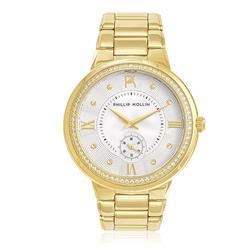 Relógio Feminino Phillip Kollin St. Maarten Gold White ZY28172H Dourado