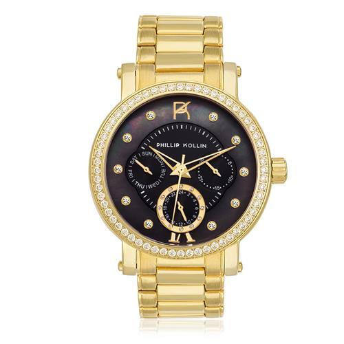 Relógio Feminino Phillip Kollin Bali Gold Ref ZY28065U Black