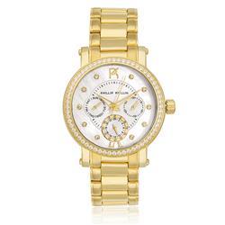 Relógio Feminino Phillip Kollin Bali Gold White Ref ZY28190H Dourado