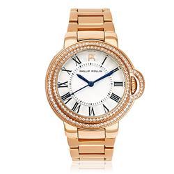 Relógio Feminino Phillip Kollin Malta Rose White ZY28136M Rose