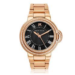 Relógio Feminino Phillip Kollin Malta Rose Black ZY28136P Rose