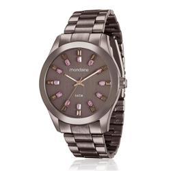 Relógio Feminino Mondaine Analógico 78663LPMVMA6 Aço Marrom