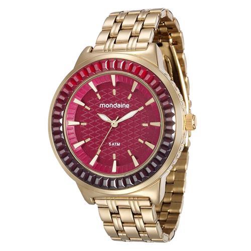 bffc7163321 Relógio Feminino Mondaine Analógico 76624LPMVDE2 Fundo Vermelho