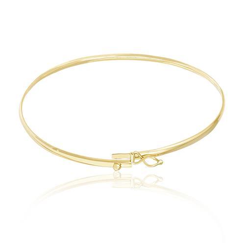 Bracelete Algema Oval em Ouro Amarelo