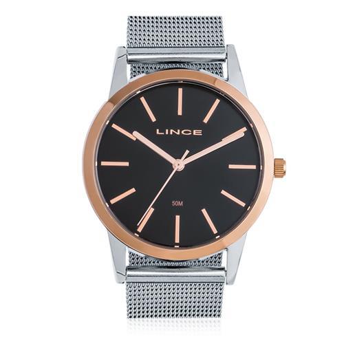 e2b6571caa88d Relógio Feminino Lince Analógico LRT4406L P1SX Fundo Preto