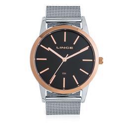 Relógio Feminino Lince Analógico LRT4406L P1SX Fundo Preto