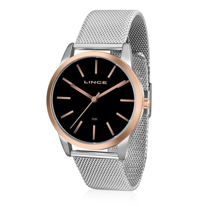 7819fdfcd8b7f Relógio Feminino Lince Analógico LRT4406L P1SX Fundo Preto. Ampliar