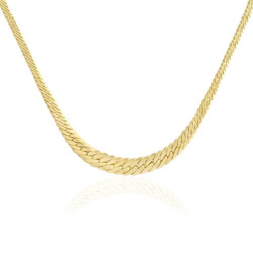 Corrente Malha Serpente em Ouro Amarelo