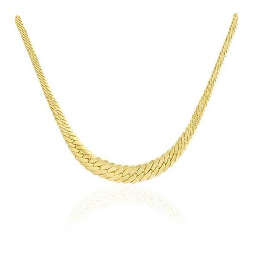 f12905f2504b8 Corrente de ouro Malha Serpente em Ouro Amarelo