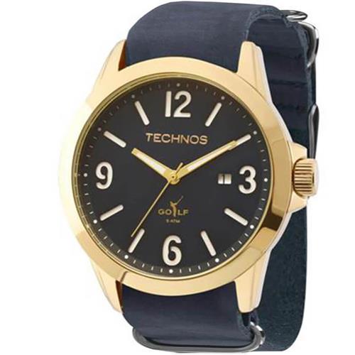 e201d844721 Relógio Masculino Technos Golf Analógico 2115KSO 2A Couro Azul