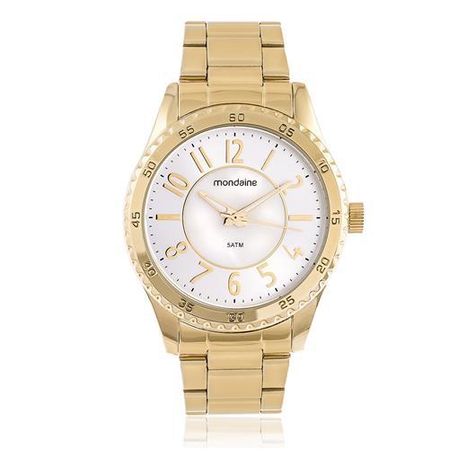 Relógio Feminino Mondaine Analógico 94927LPMVDE1 Dourado