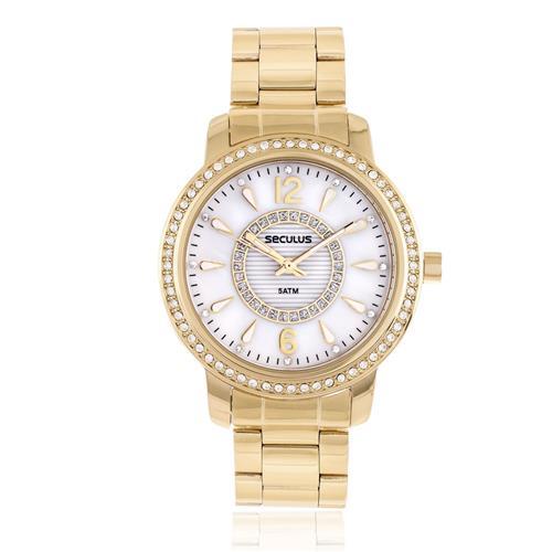 Relógio Feminino Seculus Analógico 28845LPSVDS1 Dourado
