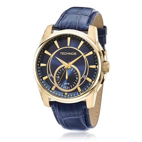 cf3b36b9f29 Relógio Masculino Technos Classic Grandtech 6P28AA 2A Couro Azul