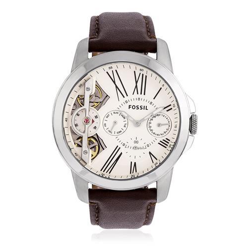 81d5e7453a6ff Relógio Masculino Fossil Automático ME1144 0BN Couro Marrom