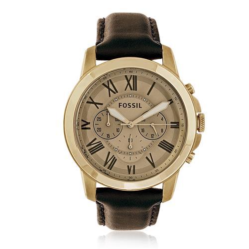 3b80575ba9d Relógio Masculino Fossil Analógico FS5107 2DN Couro