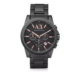 0ba0bdba3ee9f Relógio Masculino Armani Exchange Analógico UAX2086 Z Aço Negro