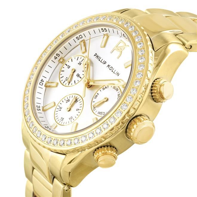 Relógio Feminino Phillip Kollin Monte Carlo ZY28145H Gold Silver. Ampliar dff601c7c8