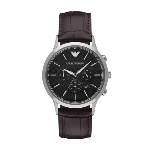 8d252fb597132 Relógio Masculino Emporio Armani Analógico AR2482 0PN Couro
