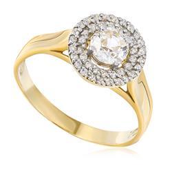 Anel de Ouro com 22 Pts em Diamantes e Safira Branca de 56 Pts b1cd0cc9e7