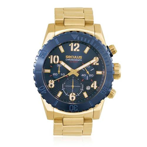 eadc6235030 Relógio Masculino Seculus Chronograph 13011GPSVLA1 Dourado