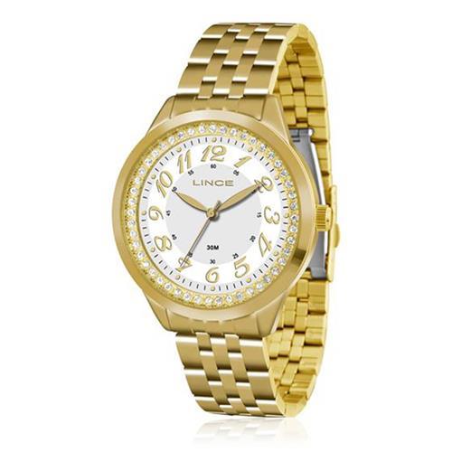 Relógio Feminino Lince Analógico LRG4330L B2KX Dourado