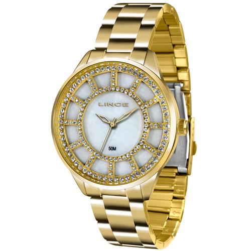 70ef513c5dd Relógio Feminino Lince Analógico LRG4378L B1KX Dourado