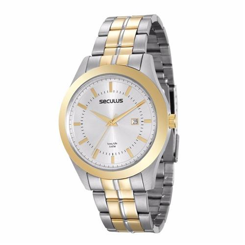Relógio Masculino Seculus Analógico 20407GPSVBA2 Aço Misto