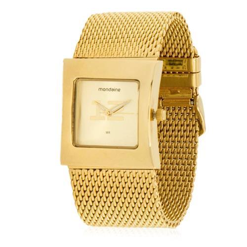 2edd02255 Relógio Feminino Mondaine Analógico 76057LPMEDE4 Dourado