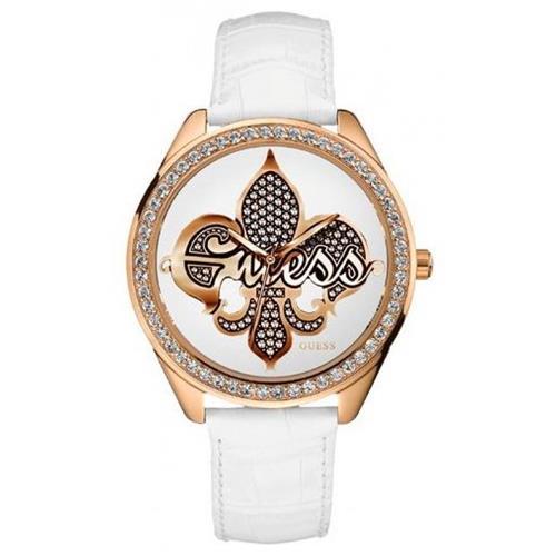 Relógio Feminino Guess Analógico W95052L1 Couro Branco