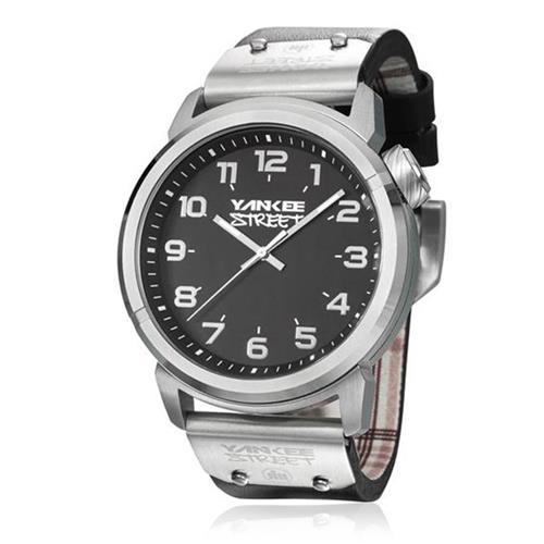 Relógio Masculino Yankee Street Black Angels YS30390T Couro