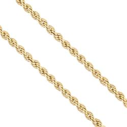 Corrente Malha Corda em Ouro Amarelo