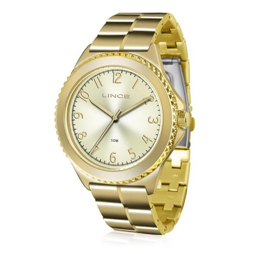 Relógio Feminino Lince Analógico LRG4429L C2KX Dourado 1bab830eef