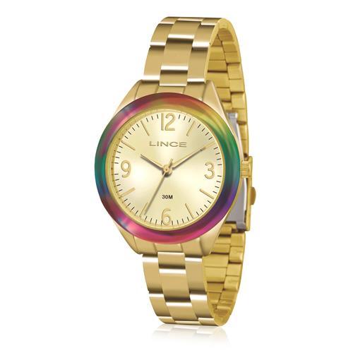 Relógio Feminino Lince Analógico LRG4326L C2KX Dourado