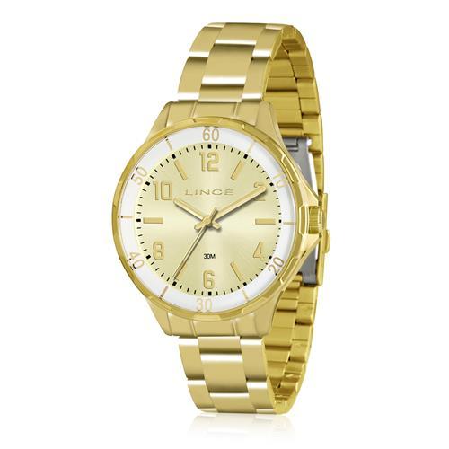Relógio Feminino Lince Analógico LRG4316L C2KX Dourado
