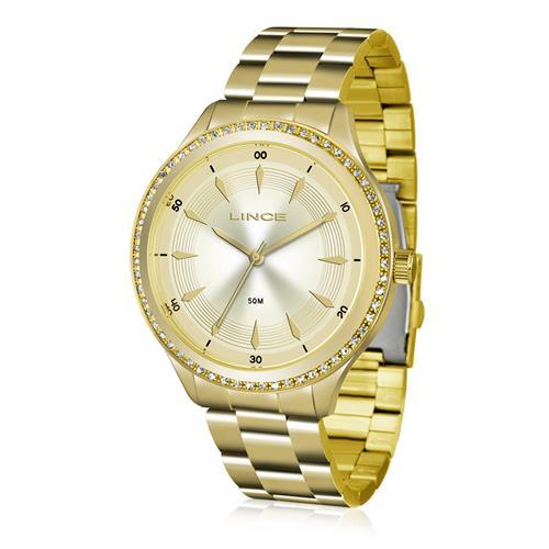 Relógio Feminino Lince Analógico LRG4427L C1KX Dourado