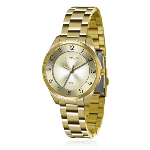 Relógio Feminino Lince Analógico LRG4376L C1KX Dourado