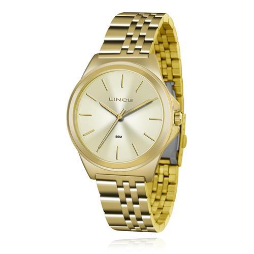 Relógio Feminino Lince Analógico LRG4428L C1KX Dourado