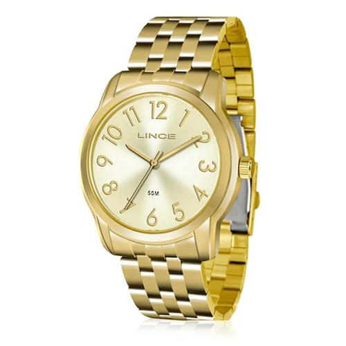 Relógio Feminino Lince Analógico LRG4456L KT73 Kit com Porta Níquel