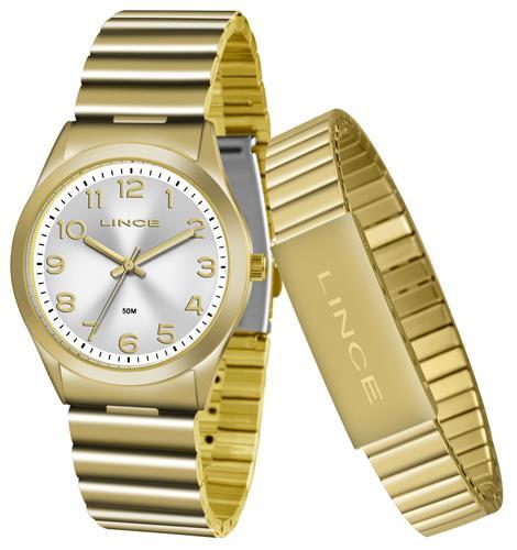 Relógio Feminino Lince Analógico LRG4455L KT82 Kit com Pulseira