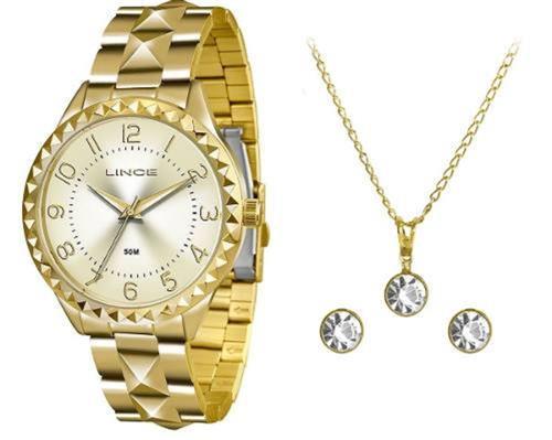 12ee64fcc61 Relógio Feminino Lince Analógico LRG4380L KU26 Kit Colar e Par de Brincos