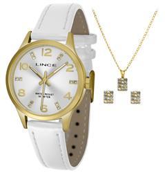 Relógio Feminino Lince Analógico LRCH052L KT66 Kit Colar e Par de Brincos