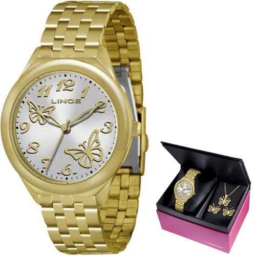 Relógio Feminino Lince Analógico LRG4291L K119 Borboletas