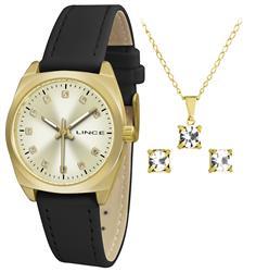Relógio Feminino Lince Analógico LRCH051L KT47 Kit Colar e Par de Brincos