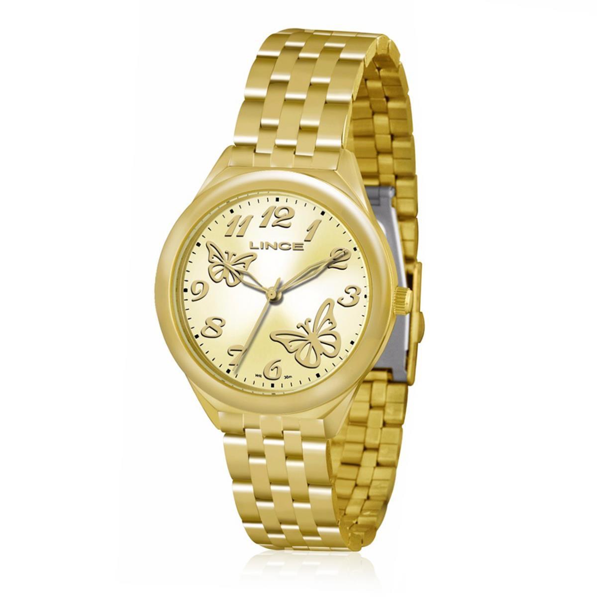 20775b4064b Relógio Feminino Lince Analógico LRG4291L K118 Kit Colar e Par de Brincos