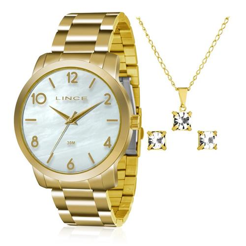 3ad5663cb31 Relógio Feminino Lince Analógico LRG4374L KU17 Kit Colar e Par de Brincos